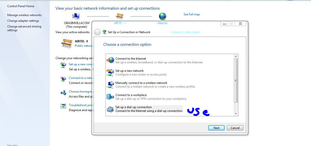a place to call home setting dial up internet connection setup in windows 7 3rd Planet Techies