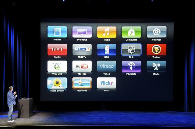 organizing apple tv icons