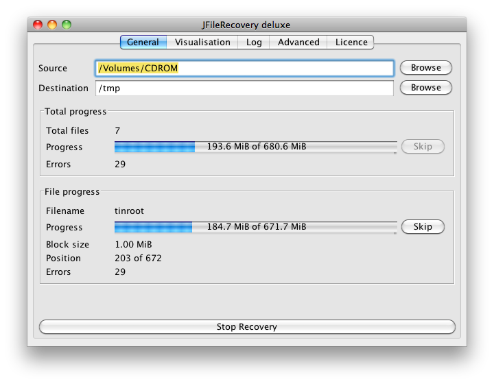 jfile recovery software