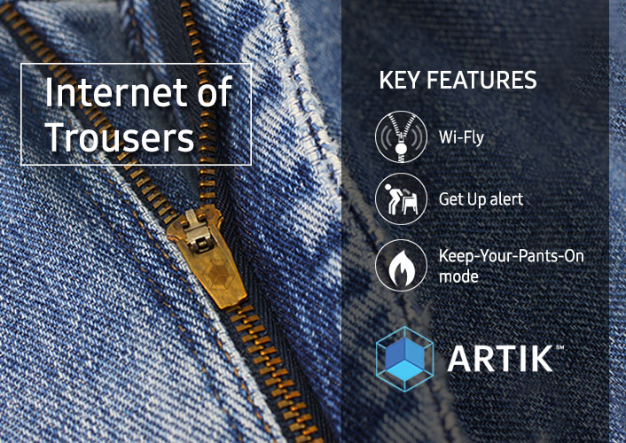Samsung Internet of trouser April fools Joke