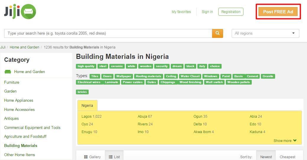 Building Materials on JIJI.NG