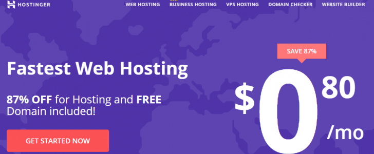 Hostinger $0.8 Hosting Promotions