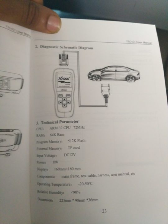 xtool VAG401 specs and features