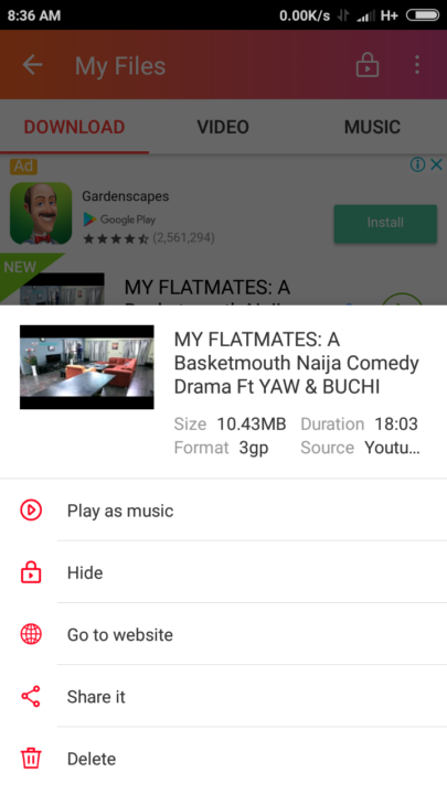 InsTube Video Downloader Features
