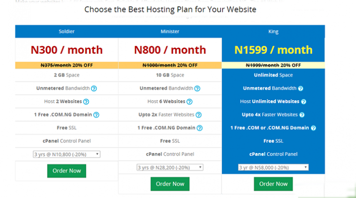 domainking.NG Web hosting review