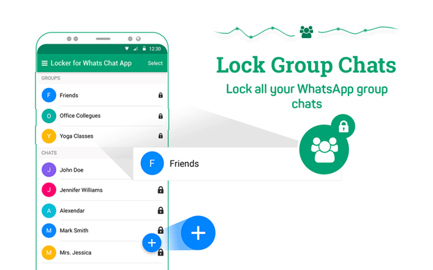Locker for Whatsapp Chat App features