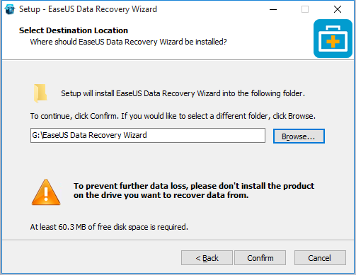 how to use EaseUS data recovery wizard