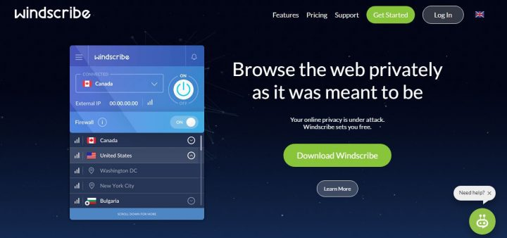 windscribe VPN review 2018