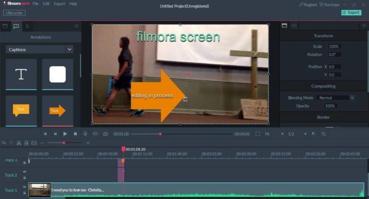 Editing Videos with Wondershare Filmora Scrn