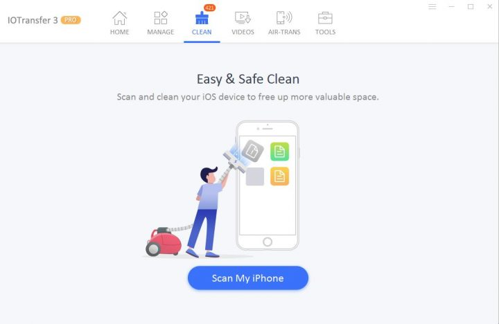iOTransfer 3 Junk Files Cleaner