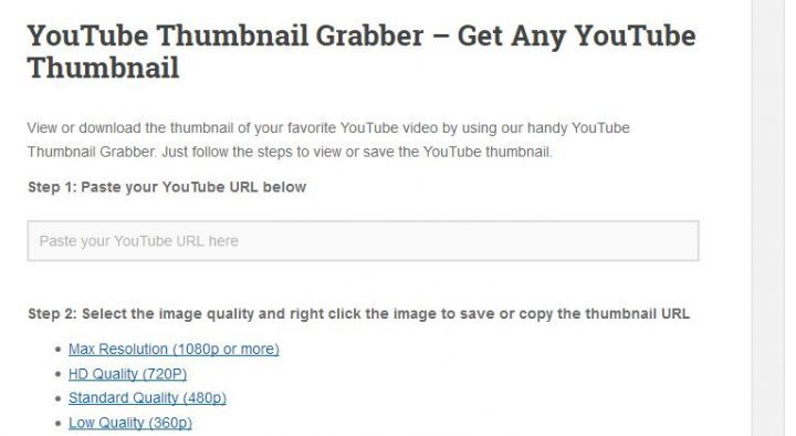 Grab YouTube Thumbnails Quickly with these 15 Free Tools