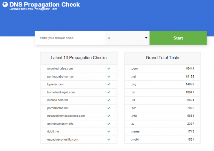DNS Propagation Checker Tool
