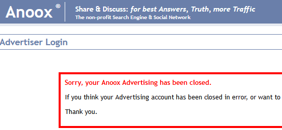 Anoox advertsing review