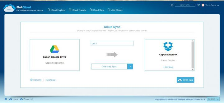 MultCloud Sync