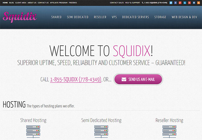 Squidix web hosting review