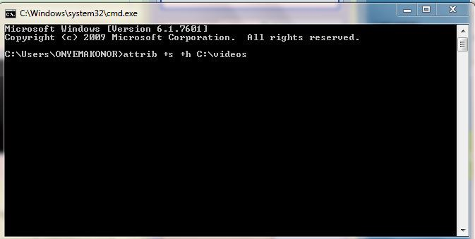 how to delete a folder using command prompt