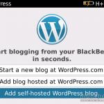 Easiest Way To Blog From Smartphones: Use Blackberry WordPress App